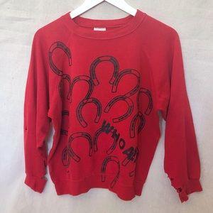 Vintage Western Horse Cowgirl Graphic Sweatshirt